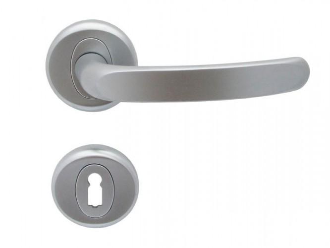 Дръжки за интериорни врати Регулус - Хром мат, За обикновен ключ