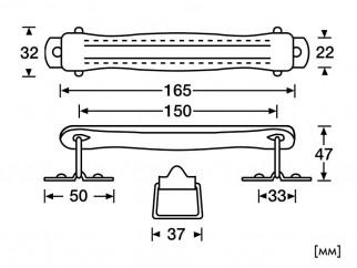 Дръжка за куфари от синтетична кожа Adam Hall 3417