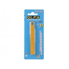Резервни резци за макетни ножове OLFA SAB - Ъгъл 30°, 10 бр.
