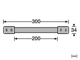Пластична дръжка за куфари с метална вложка Adam Hall 3426