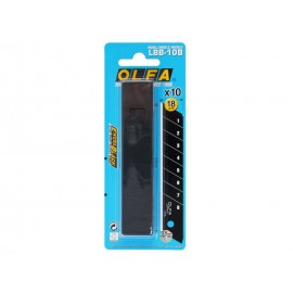 Резервни резци за макетни ножове OLFA Excel Black LBB - 18 мм, 10 бр.