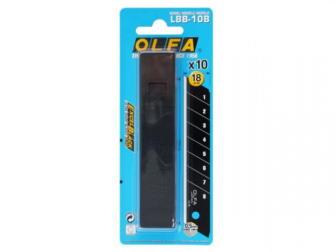 Резци (режещи пластини) за макетни ножове OLFA Excel Black LBB - 18 мм