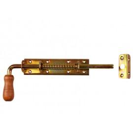 Метално резе с пружина и насрещник за дървени порти DMX WSP