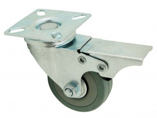 BQ08-S Ball-bearing Castor With Plate And A Brake