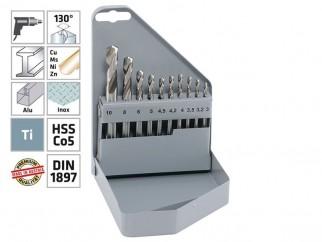 Комплект кобалтови свредла (бургии) за метал Alpen HSS Cobalt KM PZ 10