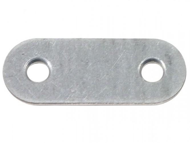 Плоска метална планка за укрепване - 37 х 14 мм