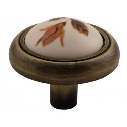 Ретро дръжка за мебели MD-3350 - Кафяво цвете