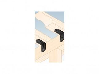 Декоративна широка усилена ъглова планка с перфорация SDSKP - 115 x 115 x 65 x 2.5 мм