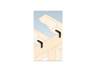 Декоративна Г-образна ъглова планка за укрепване SDSKW2 - 40 х 40 х 17 х 1.5 мм