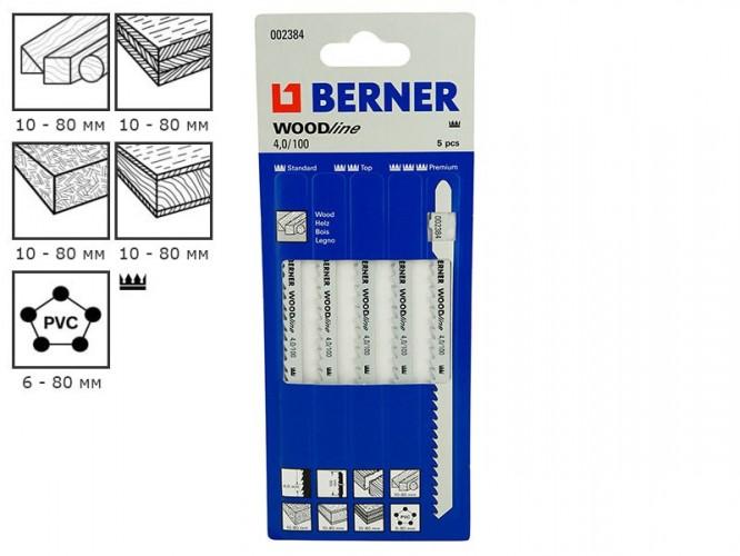 Ножове за зеге (прободен трион) за дърво Berner WoodLine 4.0/100 - 2384