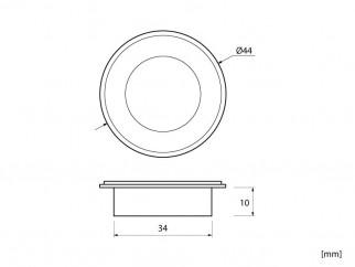 Мебелна дръжка за вкопаване MD-8386 - античен месинг