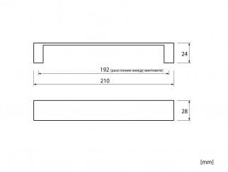 Мебелна дръжка MD-8448 - античен месинг