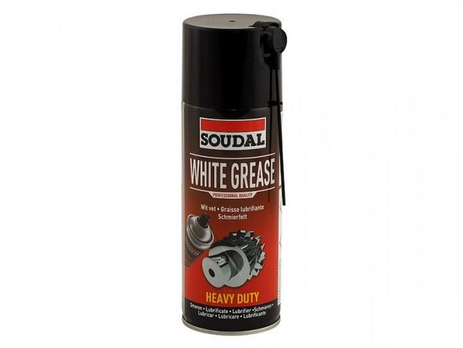 Смазочен спрей с бяла грес Soudal White Grease