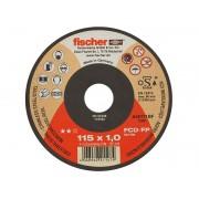 Тънък диск за рязане на стомана Fischer Profi - 115 x 1.0 x 22.23 мм