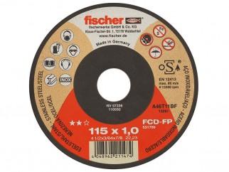 Тънък диск за рязане на стомана и неръждаема стомана Fischer Profi - 115 x 1.0 мм