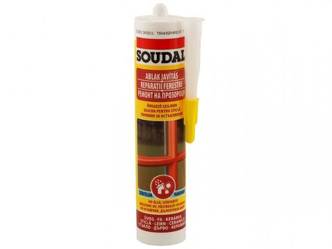 Силикон за остъкляване на дървени и метални прозорци Soudal