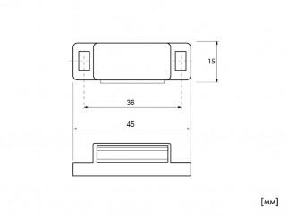 Магнитен шнапер за врати на мебели SHN-MC901 - Схема