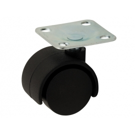 Многопосочно мебелно колелце с планка PB30 - ф30 мм
