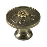 Ретро дръжка за мебели KAMA 92707 - С един винт, Старо злато
