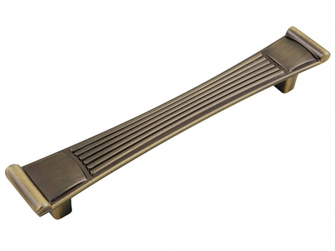 Ретро дръжка за мебели 90304 - 128 мм, Старо злато