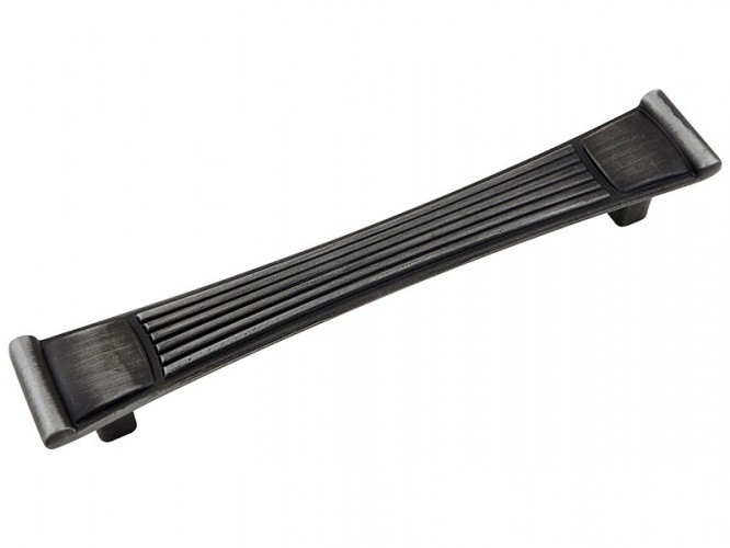 Ретро дръжка за мебели 90304 - 128 мм, Старо сребро
