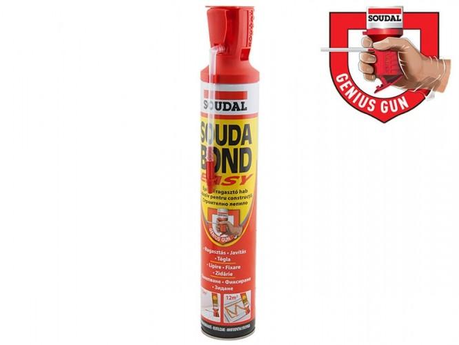 Ръчна полиуретанова лепилна пяна със слабо раздуване Soudal Soudabond Easy