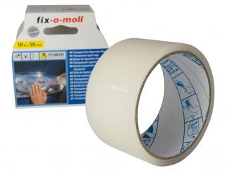 Водоустойчива лепенка за ремонт Fix-o-moll Power Tape - 10 м х 50 мм, Прозрачен