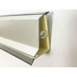 Aluminium Convex Skirting - S-Type, Matte Chrome