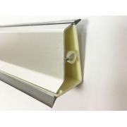 Водобранна лайстна за кухня - S-образна, Хром мат
