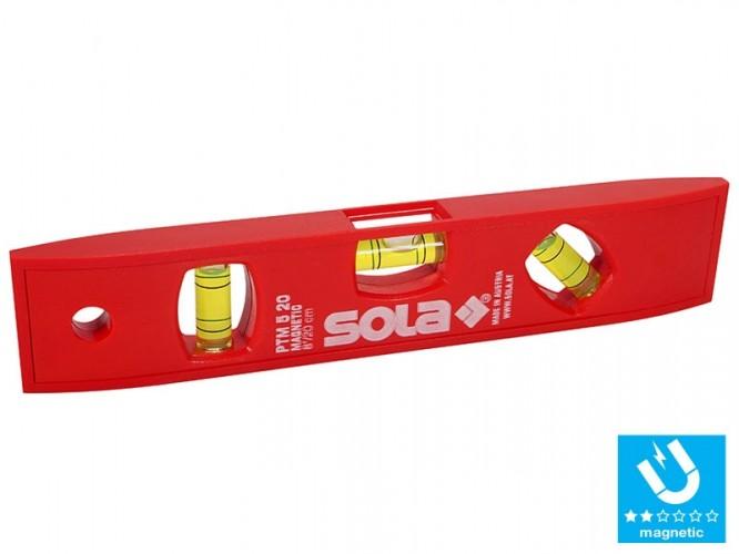 Пластмасов нивелир с магнит SOLA PTM 5