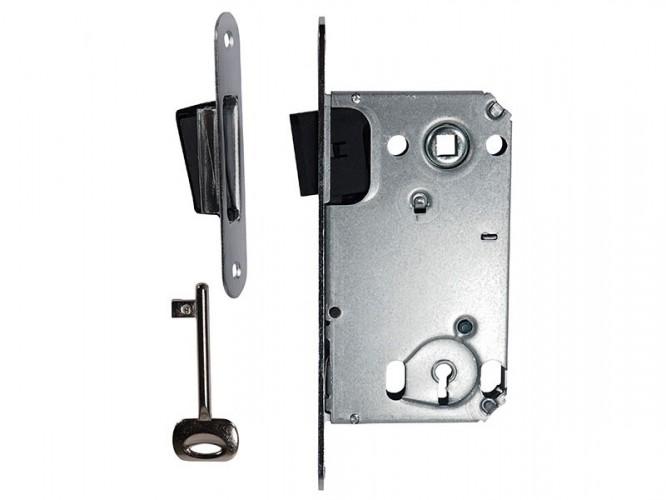 Магнитна брава за интериорни врати Bonaiti B-TWO 90 x 50 мм - Обикновен ключ