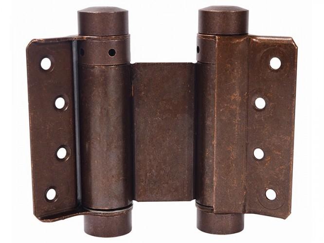 Комплект панти с пружина за летяща врата IBFM - 75 мм, Бронз, До 15 кг врати