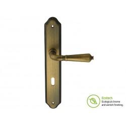 Дръжки с шилд за интериорни врати Forme Vintage Antik - Античен бронз, За обикновен ключ