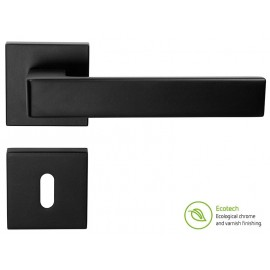 Forme Fashion Asti Interior Door Handles - Standard Key, Matt Black