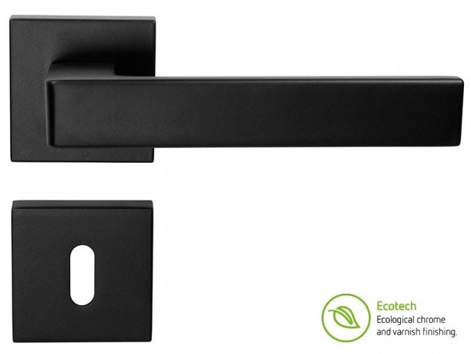 Дръжки за интериорни врати Forme Fashion Asti - Обикновен ключ, Черен мат