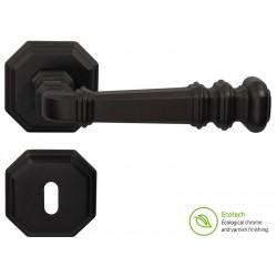 Дръжки за интериорни врати Forme Vintage Atlas - Обикновен ключ, Черен мат