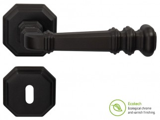 Forme Vintage Atlas Interior Door Handles - Standard Key, Matt Black