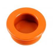 Пластмасова мебелна дръжка за вкопаване T35 - ф35 мм, Оранжев