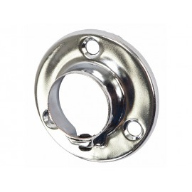 Round Wardrobe Rail Holder - 25 mm, Chrome