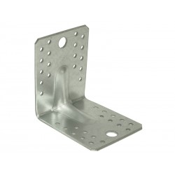 Широка усилена ъглова метална планка KP 2 - 105 x 105 x 90 мм