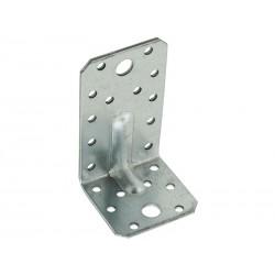 Широка усилена метална ъглова планка KP 3 - 90 x 50 x 55 мм
