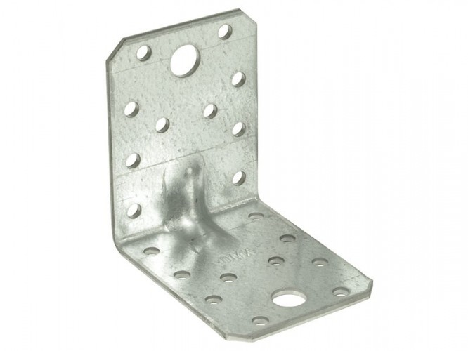 Широка усилена метална ъглова планка KP 4 - 70 x 70 x 55 мм