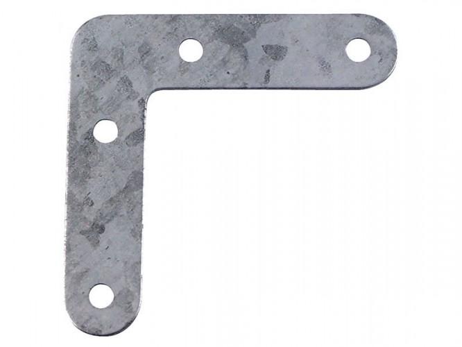 Плоска метална ъглова планка - 60 x 60 мм