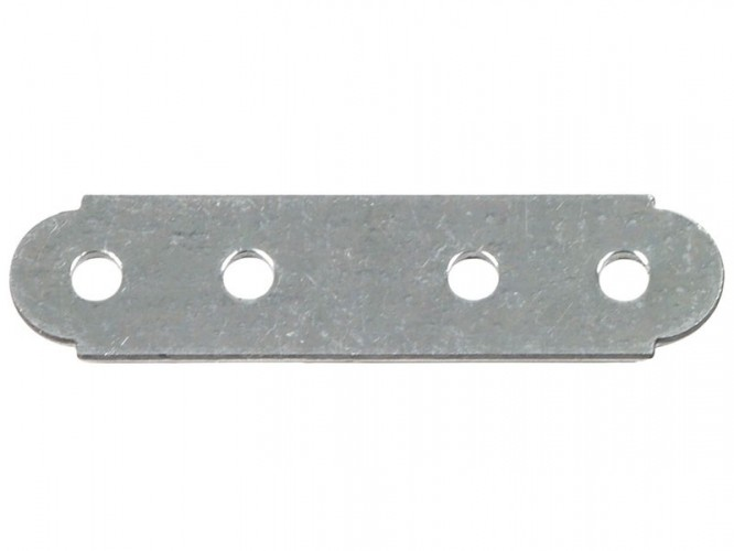 Плоска метална планка за укрепване - 60 х 15 мм
