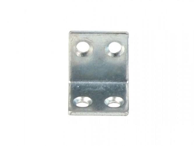 Широка ъглова метална планка за укрепване - 20 х 20 мм