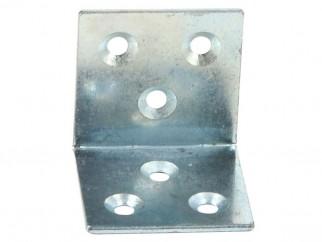 Широка метална ъглова планка за укрепване - 40 х 40 мм