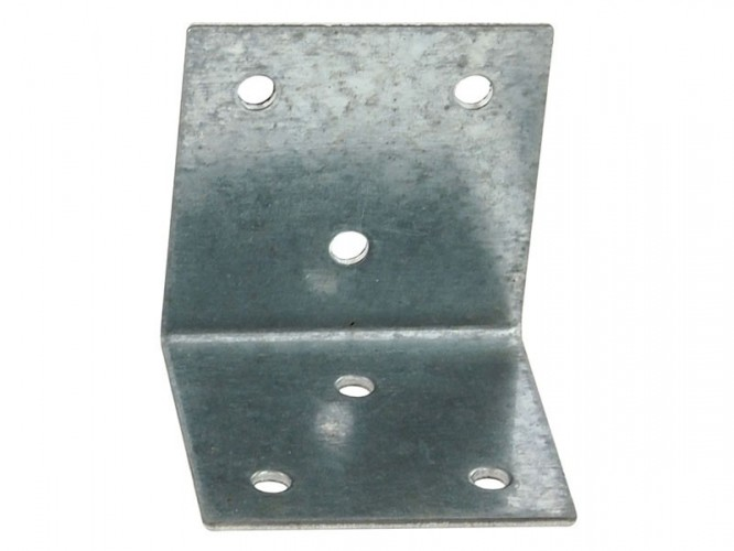 Широка метална ъглова планка за укрепване - 50 х 50 мм