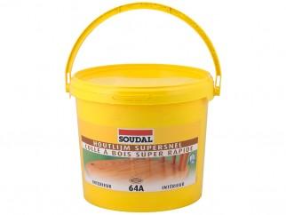 Бързосъхнещо лепило за дърво Soudal 64A D2 - 5 кг