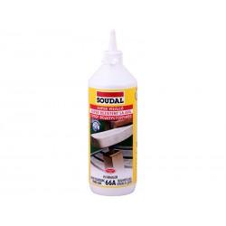 Полиуретаново водоустойчиво лепило за дърво Soudal 66A D4 - 750 гр