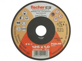 Тънък диск за рязане на стомана и неръждаема стомана Fischer Profi - 125 x 1.0 мм